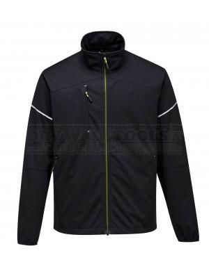 Portwest PW3 Flex Shell jacket Black (Large) - (T620)