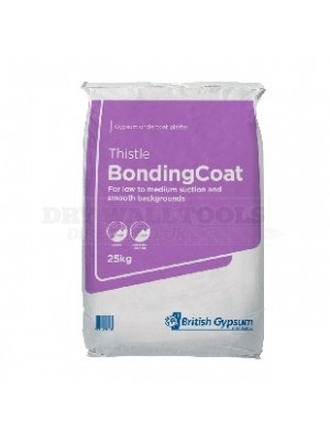 British Gypsum Thistle BondingCoat Plaster 25kg (1/4 Pallet - 14 Bags) - 06055/7