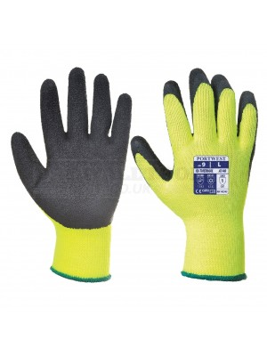Portwest Thermal Grip Glove Black/Yellow  (M,L,XL) - A140