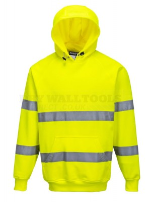 Portwest Hi-Vis Hooded Sweatshirt Size: M,L,XL  B304