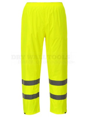 Portwest Hi-Vis Rain Trousers Yellow (L,XL) - (H441)