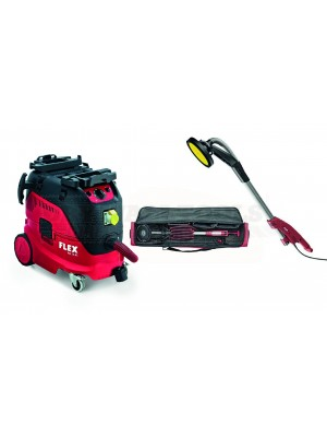 Flex Vacuum Cleaner Kit With Class M- VCE 33 M AC 110 Volt Vacuum & GE5 Drywall Sander 110 V