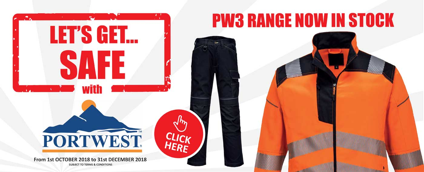 Portwest workwear, safetywear and PPE